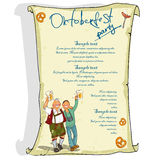 Oktoberfest poster with sample text Royalty Free Stock Images