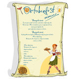Oktoberfest poster with sample text Stock Image