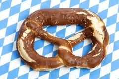 Oktoberfest Pretzel. Close-up of one Bavarian Oktoberfest pretzel Royalty Free Stock Image