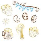 Oktoberfest, pretzel, beer Royalty Free Stock Image