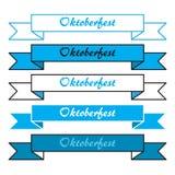Oktoberfest prości sztandary Fotografia Stock