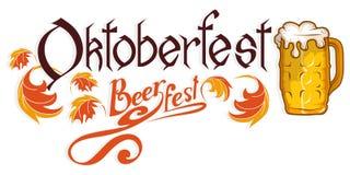 Oktoberfest ręka Rysujący literowanie Ilustracja Wektor