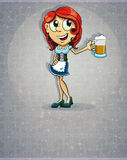 Oktoberfest  redhead girl Royalty Free Stock Photography
