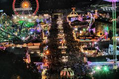 Oktoberfest rides at night Royalty Free Stock Images