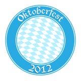 Oktoberfest round banner Stock Image