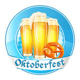 Oktoberfest round banner Royalty Free Stock Photos