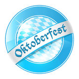 Oktoberfest round banner with ribbon Royalty Free Stock Photos