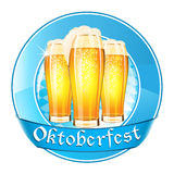 Oktoberfest round banner with ribbon Royalty Free Stock Photography