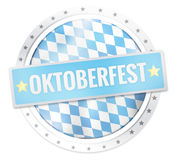 Oktoberfest Round Icon Stars Borders Stock Images