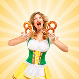 Oktoberfest scream. Stock Image