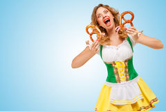 Oktoberfest scream. Stock Photography