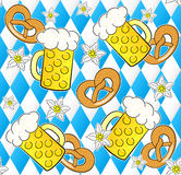 Oktoberfest seamless pattern background Royalty Free Stock Photo