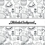 Oktoberfest seamless pattern Royalty Free Stock Images
