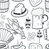 Oktoberfest seamless pattern Stock Photos