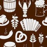 Oktoberfest seamless pattern Royalty Free Stock Photos