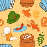 Oktoberfest seamless pattern Stock Image