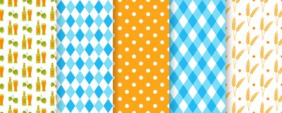 Oktoberfest seamless pattern. Octoberfest backgrounds. Vector illustration