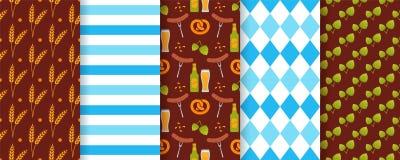 Oktoberfest seamless pattern. Octoberfest textures. Vector illustration