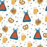 Oktoberfest seamless vector pattern. vector illustration