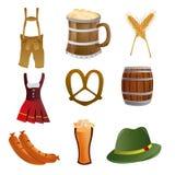 Oktoberfest. A set of oktoberfest related elements on a white background Royalty Free Stock Photos