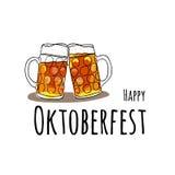 Oktoberfest Set Vektorillustration von oktoberfest Attributen Stockfotografie