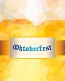 Oktoberfest sign. Beer mug. Vector illustration. Low poly. Stock Photography