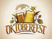 Oktoberfest sign or logo design Royalty Free Stock Photo