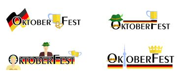 The oktoberfest signs Royalty Free Stock Photography