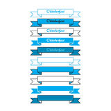 Oktoberfest simple banners Royalty Free Stock Images