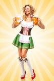 Oktoberfest-Stimmung lizenzfreie abbildung