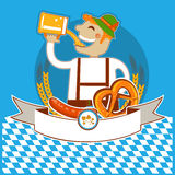 Oktoberfest Symbol Kabel With Man And Beer.Vector Stock Image