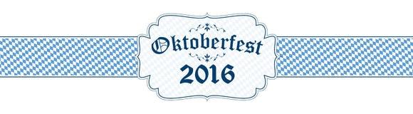 Oktoberfest sztandar z tekstem Oktoberfest 2016 Zdjęcia Royalty Free
