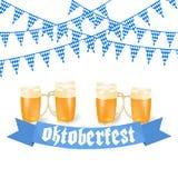 Oktoberfest sztandary w Bawarskim kolorze Fotografia Royalty Free