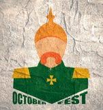 Oktoberfest text och tysk soldat Fotografering för Bildbyråer