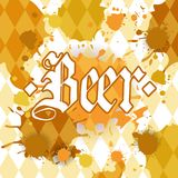 Oktoberfest Traditional Beer Festival Banner Holiday Poster Stock Photography