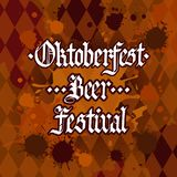 Oktoberfest Traditional Beer Festival Banner Holiday Poster Stock Photo