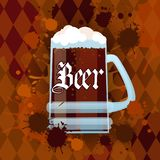 Oktoberfest Traditional Beer Festival Banner Holiday Poster Royalty Free Stock Photography