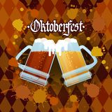 Oktoberfest Traditional Beer Festival Banner Holiday Poster Stock Photos