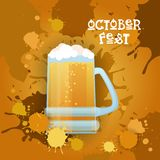 Oktoberfest Traditional Beer Festival Banner Holiday Poster Stock Images