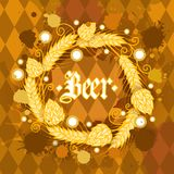Oktoberfest Traditional Beer Festival Banner Holiday Poster Stock Image