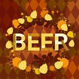 Oktoberfest Traditional Beer Festival Banner Holiday Poster Royalty Free Stock Image