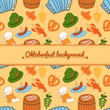 Oktoberfest vector background Stock Photos
