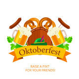 Oktoberfest vector background design. Octoberfest holiday banner Royalty Free Stock Photography