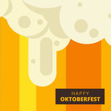 Oktoberfest vector background design. Octoberfest holiday banner Stock Image