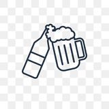 Oktoberfest vector icon isolated on transparent background, line royalty free illustration
