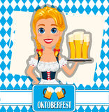 Oktoberfest vector illustration on abstract background. Sexy red Royalty Free Stock Photo
