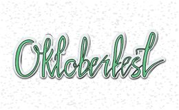 Oktoberfest poster note stock illustration