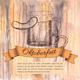 Oktoberfest vector illustration Stock Photos