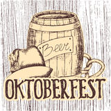 Oktoberfest vector illustration Royalty Free Stock Photo