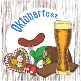 Oktoberfest vector illustration Stock Images